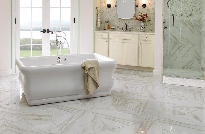 پوشش کف برای حمام